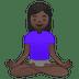 🧘🏿♀️ woman in lotus position: dark skin tone Emoji on Google Platform