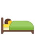 🛌 person in bed Emoji on Google Platform