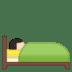 🛌🏻 person in bed: light skin tone Emoji on Google Platform