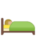 🛌🏼 person in bed: medium-light skin tone Emoji on Google Platform