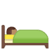 🛌🏽 person in bed: medium skin tone Emoji on Google Platform