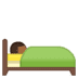 🛌🏾 person in bed: medium-dark skin tone Emoji on Google Platform