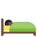 🛌🏿 person in bed: dark skin tone Emoji on Google Platform