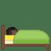 🛌🏿 Dark Skin Tone Person In Bed Emoji on Google Platform