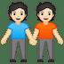 🧑🏻🤝🧑🏻 people holding hands: light skin tone Emoji on Google Platform