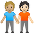 🧑🏼‍🤝‍🧑🏻 people holding hands: medium-light skin tone, light skin tone Emoji on Google Platform