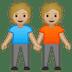 🧑🏼🤝🧑🏼 people holding hands: medium-light skin tone Emoji on Google Platform