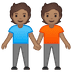 🧑🏽🤝🧑🏽 people holding hands: medium skin tone Emoji on Google Platform
