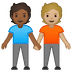 🧑🏾‍🤝‍🧑🏼 people holding hands: medium-dark skin tone, medium-light skin tone Emoji on Google Platform