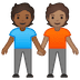 🧑🏾🤝🧑🏽 people holding hands: medium-dark skin tone, medium skin tone Emoji on Google Platform