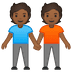 🧑🏾‍🤝‍🧑🏾 people holding hands: medium-dark skin tone Emoji on Google Platform