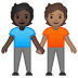🧑🏿‍🤝‍🧑🏽 people holding hands: dark skin tone, medium skin tone Emoji on Google Platform