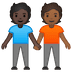 🧑🏿‍🤝‍🧑🏾 people holding hands: dark skin tone, medium-dark skin tone Emoji on Google Platform