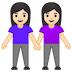 👭🏻 women holding hands: light skin tone Emoji on Google Platform