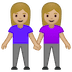 👭🏼 women holding hands: medium-light skin tone Emoji on Google Platform