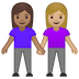 👩🏽‍🤝‍👩🏼 women holding hands: medium skin tone, medium-light skin tone Emoji on Google Platform