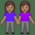 👭🏽 women holding hands: medium skin tone Emoji on Google Platform
