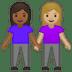 👩🏾🤝👩🏼 women holding hands: medium-dark skin tone, medium-light skin tone Emoji on Google Platform