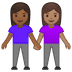 👩🏾‍🤝‍👩🏽 women holding hands: medium-dark skin tone, medium skin tone Emoji on Google Platform