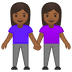 👭🏾 women holding hands: medium-dark skin tone Emoji on Google Platform