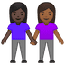 👩🏿‍🤝‍👩🏾 women holding hands: dark skin tone, medium-dark skin tone Emoji on Google Platform
