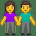 👫 Woman And Man Holding Hands Emoji on Google Platform
