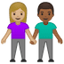 👩🏼‍🤝‍👨🏾 woman and man holding hands: medium-light skin tone, medium-dark skin tone Emoji on Google Platform