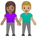 👩🏽‍🤝‍👨🏼 woman and man holding hands: medium skin tone, medium-light skin tone Emoji on Google Platform