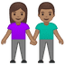 👫🏽 woman and man holding hands: medium skin tone Emoji on Google Platform