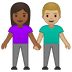 👩🏾‍🤝‍👨🏼 woman and man holding hands: medium-dark skin tone, medium-light skin tone Emoji on Google Platform