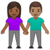 👩🏾‍🤝‍👨🏽 woman and man holding hands: medium-dark skin tone, medium skin tone Emoji on Google Platform
