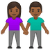 👫🏾 woman and man holding hands: medium-dark skin tone Emoji on Google Platform