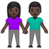👫🏿 woman and man holding hands: dark skin tone Emoji on Google Platform