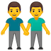 👬 men holding hands Emoji on Google Platform