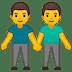 👬 Men Holding Hands Emoji on Google Platform