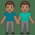 👬🏽 men holding hands: medium skin tone Emoji on Google Platform