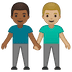 👨🏾‍🤝‍👨🏼 men holding hands: medium-dark skin tone, medium-light skin tone Emoji on Google Platform