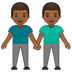 👬🏾 men holding hands: medium-dark skin tone Emoji on Google Platform