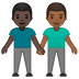 👨🏿‍🤝‍👨🏾 men holding hands: dark skin tone, medium-dark skin tone Emoji on Google Platform