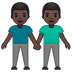 👬🏿 Dark Skin Tone Men Holding Hands Emoji on Google Platform