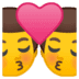 👨‍❤️‍💋‍👨 kiss: man, man Emoji on Google Platform