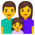 👨‍👩‍👧 family: man, woman, girl Emoji on Google Platform