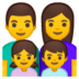 👨‍👩‍👧‍👦 family: man, woman, girl, boy Emoji on Google Platform