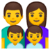 👨‍👩‍👦‍👦 family: man, woman, boy, boy Emoji on Google Platform
