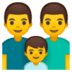 👨‍👨‍👦 Family With Man, Man And Boy Emoji on Google Platform