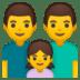 👨👨👧 family: man, man, girl Emoji on Google Platform
