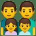 👨👨👧👦 family: man, man, girl, boy Emoji on Google Platform