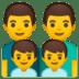👨👨👦👦 family: man, man, boy, boy Emoji on Google Platform