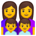 👩‍👩‍👦‍👦 family: woman, woman, boy, boy Emoji on Google Platform