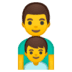 👨‍👦 family: man, boy Emoji on Google Platform